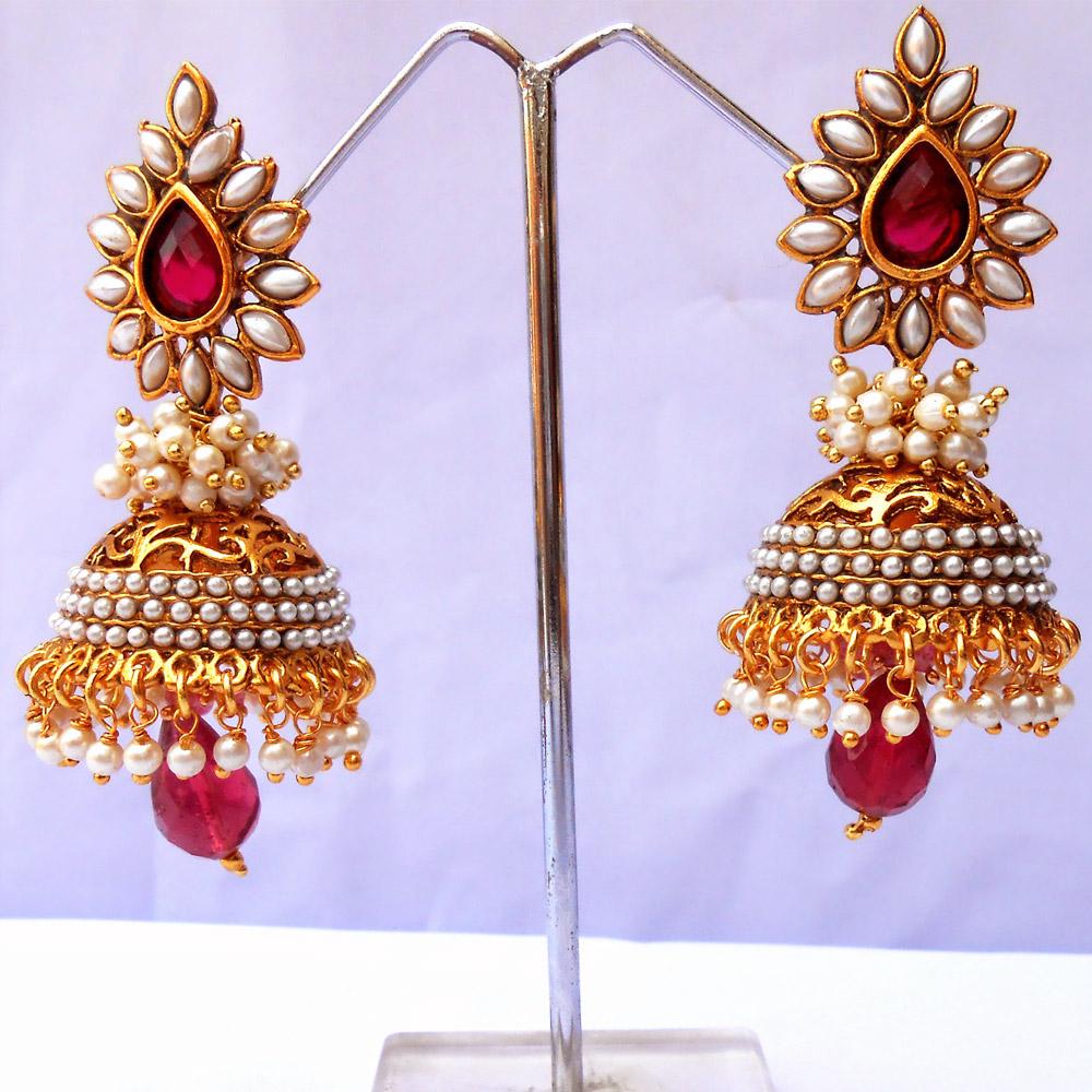 Pair of exquisite jhumki earrings