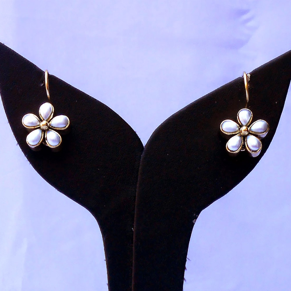 Pearl studded desire earrings