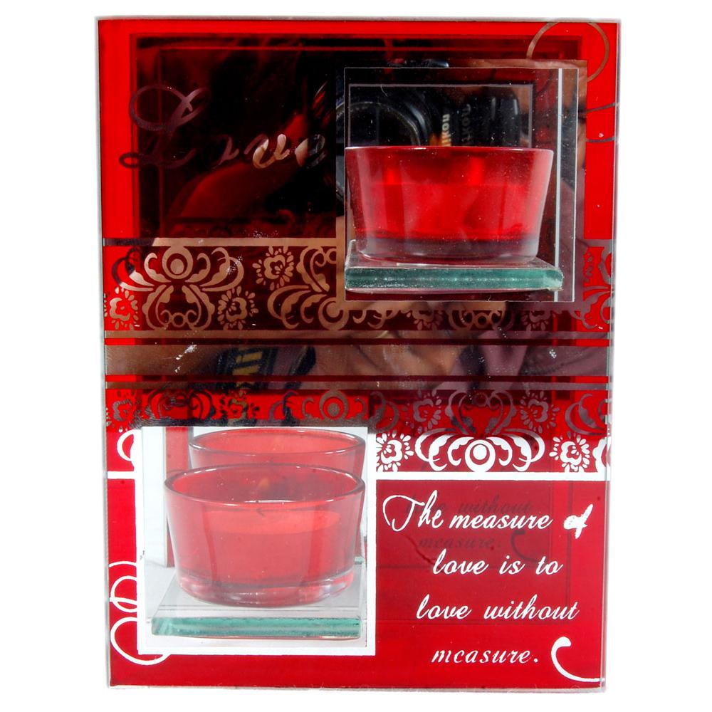Perfumed gel candle gift hamper