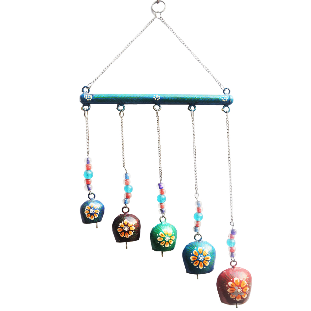 Rajasthan inspired colourful metal wind chimes