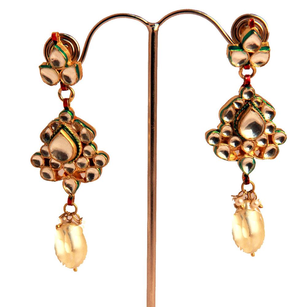 Rajasthani kundan earrings