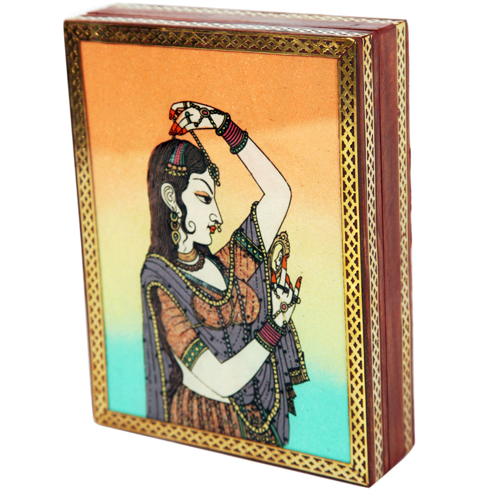 Rajput princess bani thani gemstone jewellery box