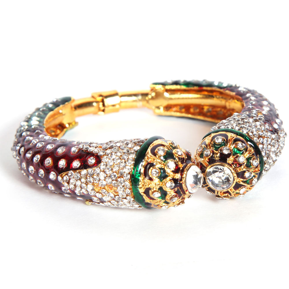 Red & green exquisite bangles