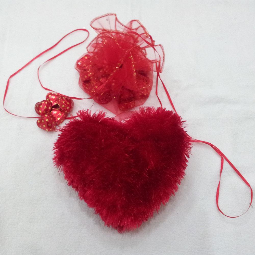 Red heart chocolate potli