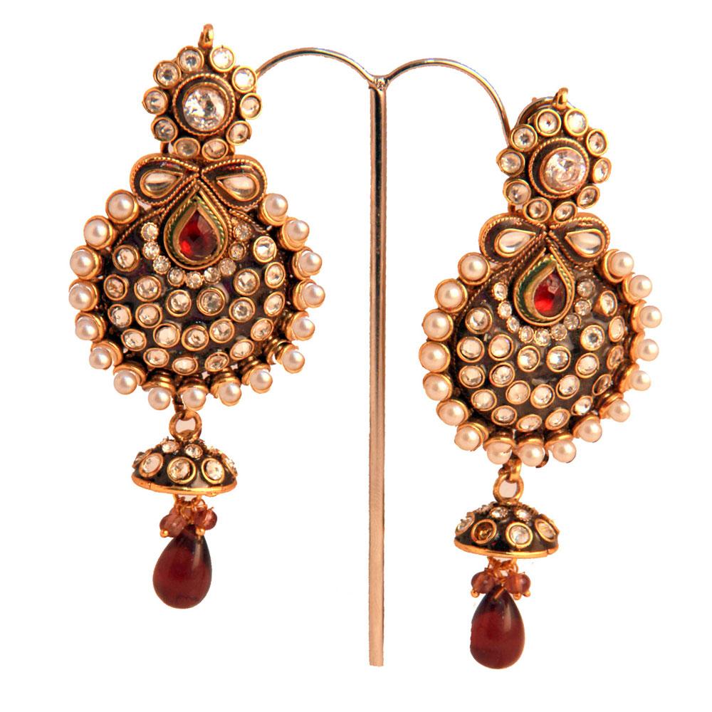 Long embeleshed earrings