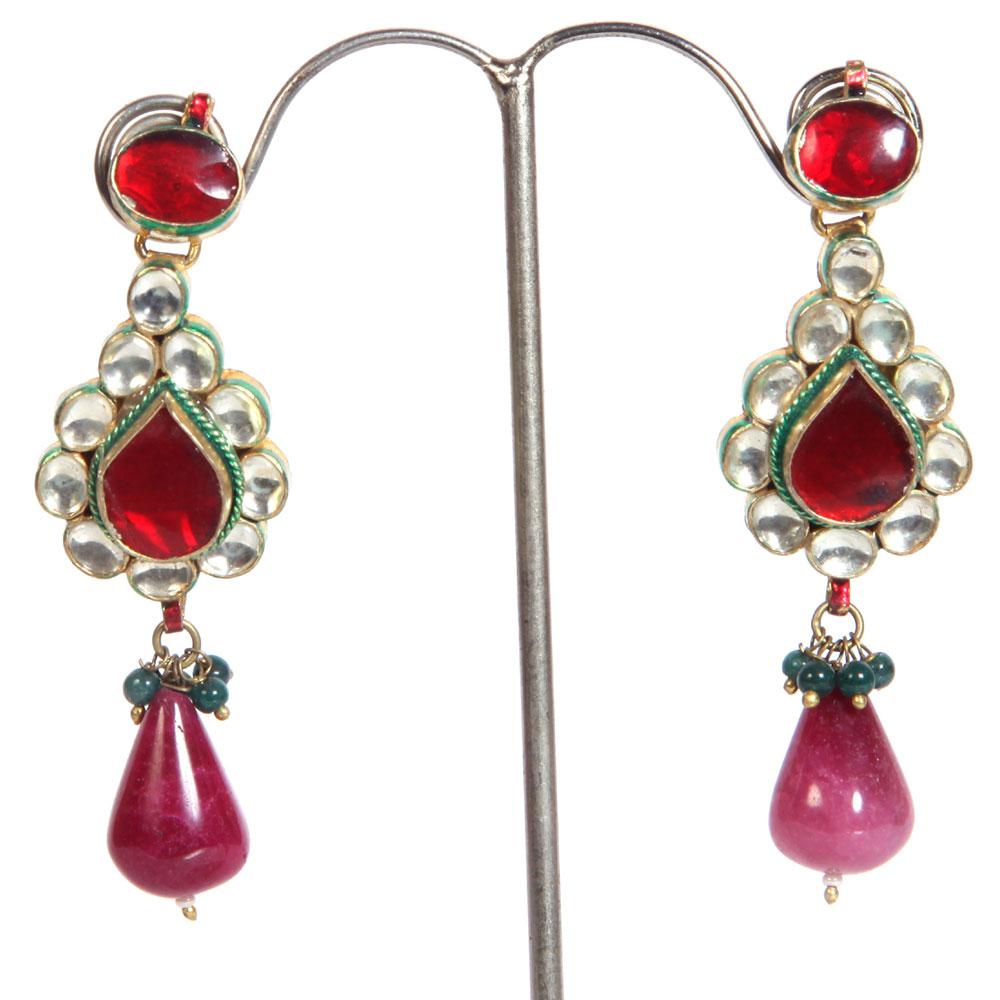 Royal elegance teardrop hanging earrings