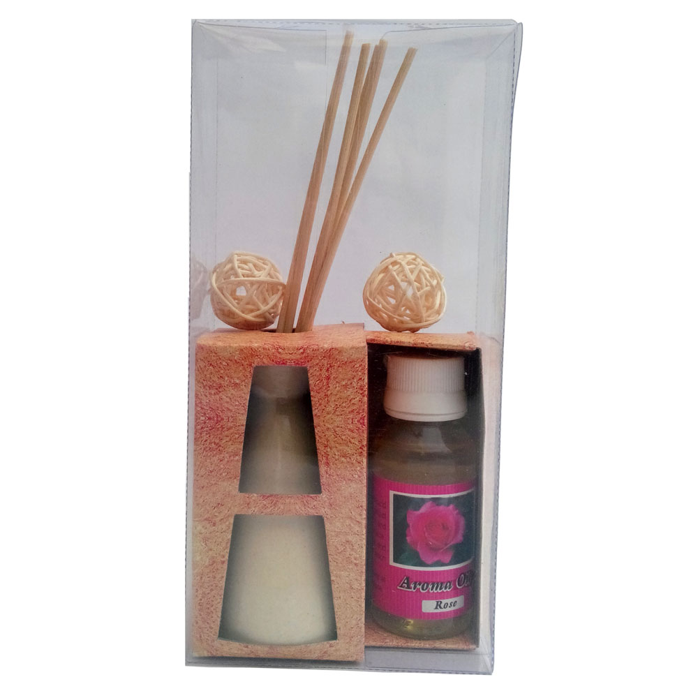 Scented aroma oil & burner with reed diffuser sticks
