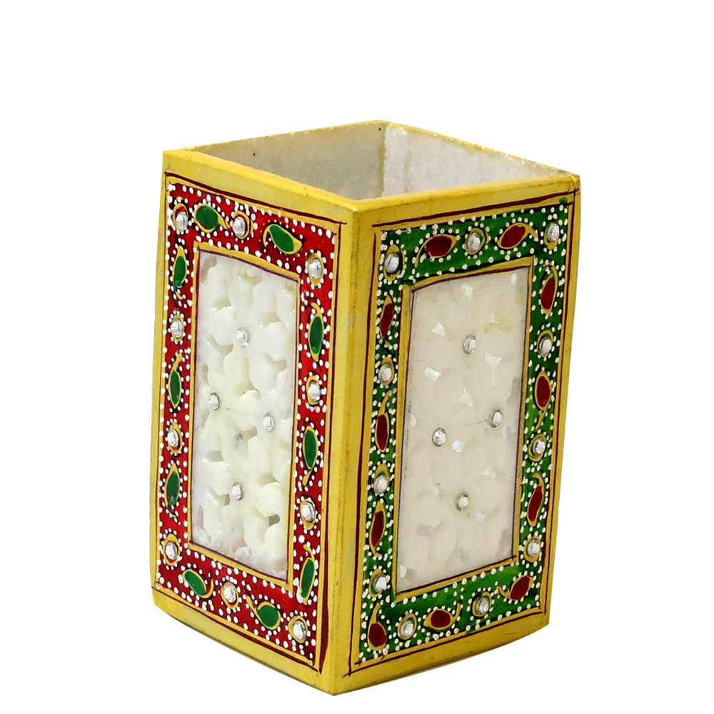 Square Marble Pen Stand