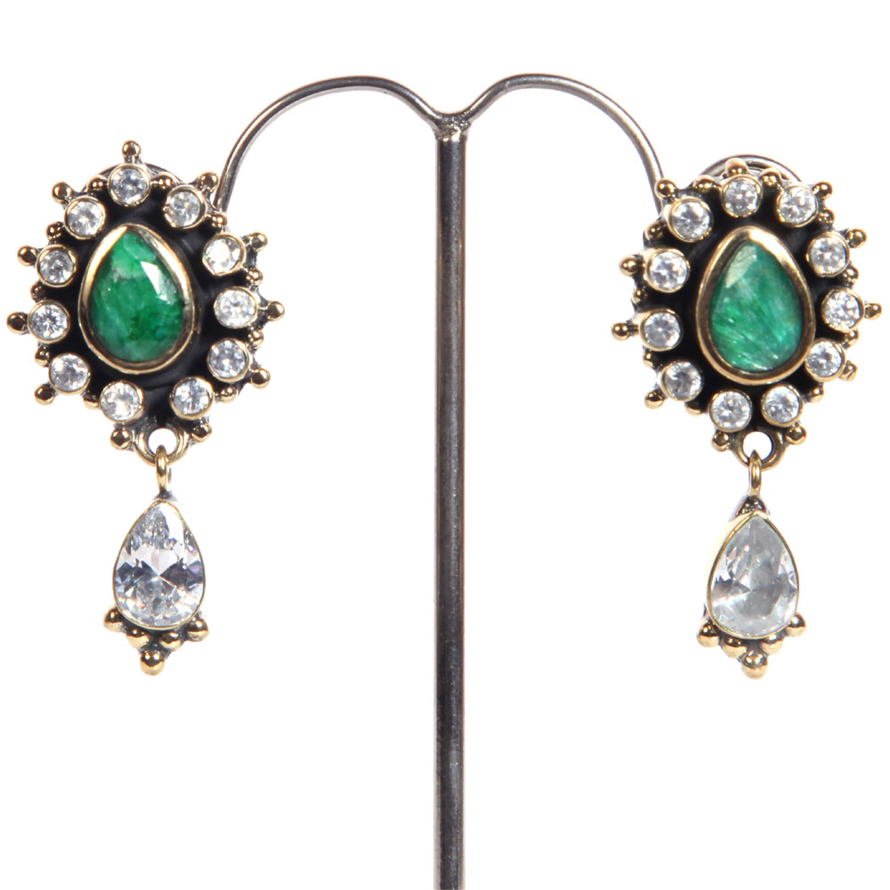 Stone studded pair of earrings