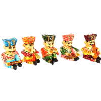 5 pieces wooden musician set