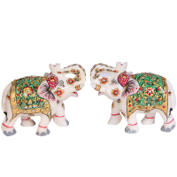 Elephant pair showpiece