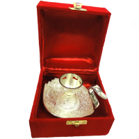 Attractive german silver candle holder
