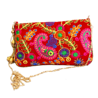 Attractive Handcrafted Clutch Bag With Sling and Mirror Designs