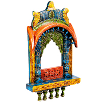 Colored bandhej jharokha