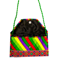 Bhandej Fabric Colourful Purse With Sling For Party Purposes