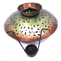 Candle stand with brass matki