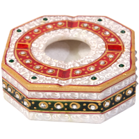 Colored marble ash tray
