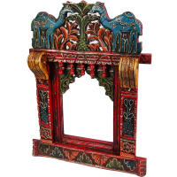 Colorful rajasthani jharokha with camel print