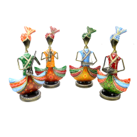 Colourful punjabi cultural music dolls as a showpiece