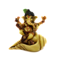 Cute Ganesha on Conch shell