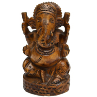 Decorative Lord Ganesha Idol in Wood