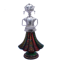 Decorative Musician Doll with Antique Embossed Work in Metal & Wood