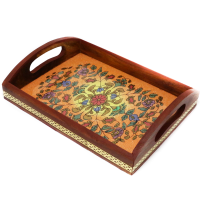 Designed Wooden Rectangular Tray