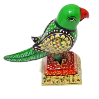 Designer Parrot Bird Made Of Wood With Handcrafted Painting