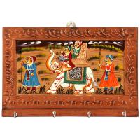Elephant painted keyholder