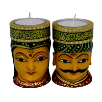 Ethnic t-lite candle holders with a touch of rajasthan