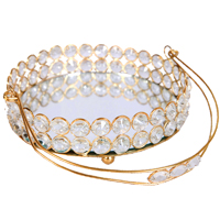 Exquisite Crystal Tokri with Crystal Embedded Metal Handle