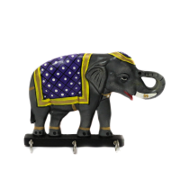 Grey Elephant Key Holder