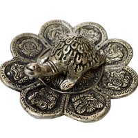 click here for bulk price oxidized tortoise with flower shaped plate