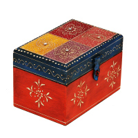 Handmade Multicolor Embossed Wooden Box