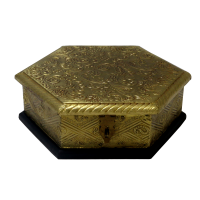 Hexagonal box to store dryfruits at your home