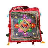 High Quality Rectangular Ethnic Design Handbag With Flower Designs