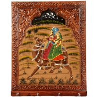 Jharokha pattern key holder