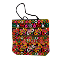 Kairy Embroidery Handcrafted Work Bag  With Colourful Designs