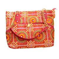 Little Hanging Bag With Kanta Embroidery Work In Bright Colours
