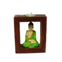 Meditating Buddha Candle Stand