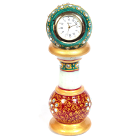 Minakari Marble Pillar Watch
