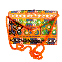 Mirror Work Design Handcrafted Pouch Hanging Bag