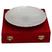 Ornate Dry Fruit Serving Bowl in German Silver