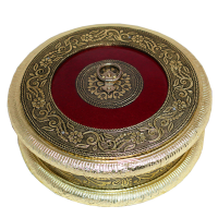Oxidised Round Box To Keep Dry Fruits