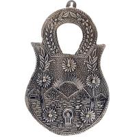Oxidized lock shaped key holder