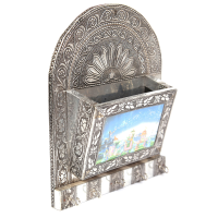 Oxidised designer letter holder