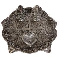 Oxidised Pooja Thali Handmade Ganesh Lakshmi