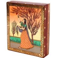 Artistic ragini gemstone jewellery box