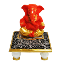 Resin made Ganesh with Chowki
