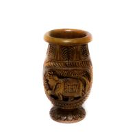 Simple wooden curved flower vase